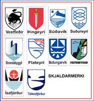Límmiðar Skjaldarmerki