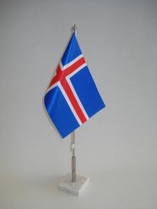 Borðfánastöng með marmarafæti