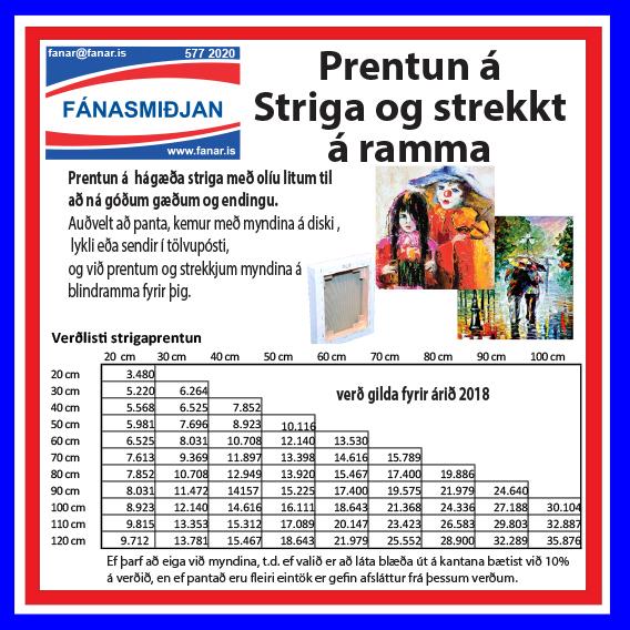 Strigaprentunarverrð 2018